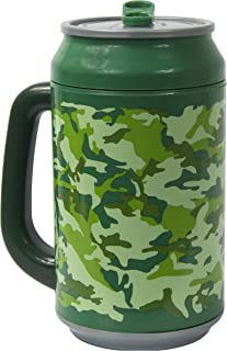 Cool Gear Can with Handle, 32 oz, Covert Ops Green
