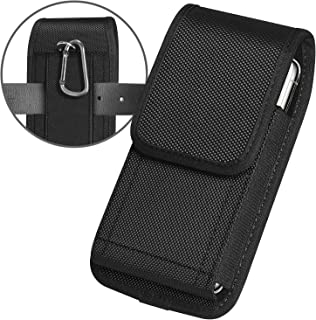 ykooe Cell Phone Pouch Nylon Holster Case with Belt Clip Cover for iPhone 11, Pro, Max, 6 7 X, Samsung Galaxy A10, A20, A5...