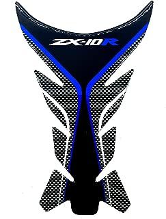 Blue Motorcycle Protector Gas Fuel Tank Pad Decal Epoxy Sticker for Kawasaki Ninja ZX10R All YEARS