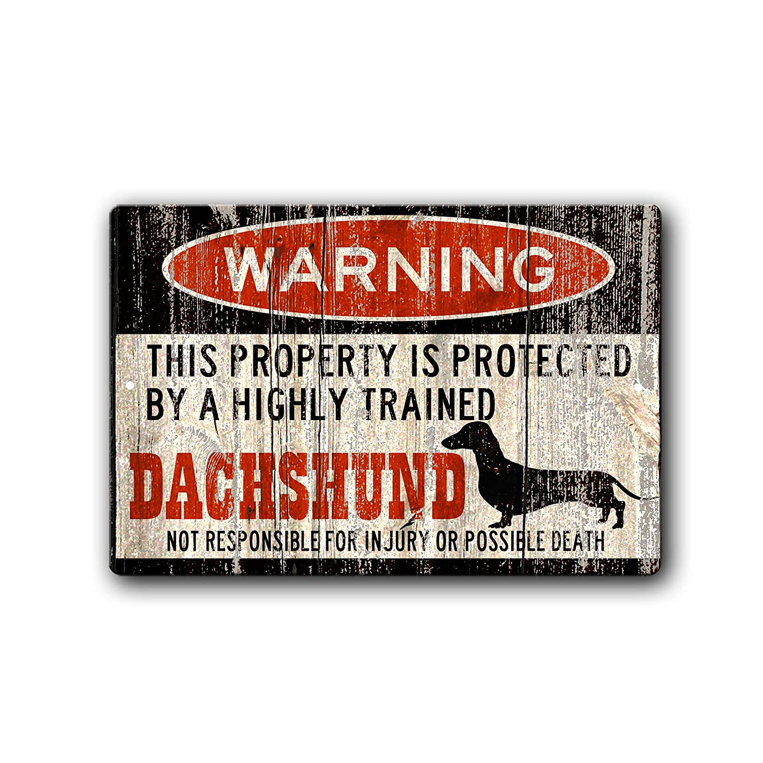 At the price Dachshund Sign Funny dog warning sign Gift Baltimore Mall Dachshun