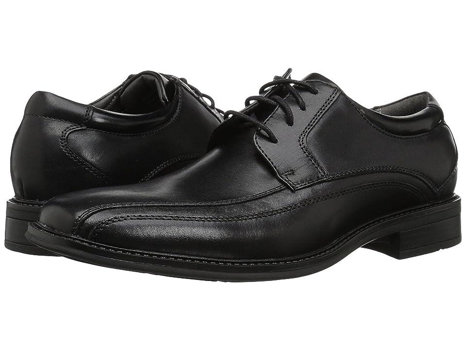 Dockers Endow Bike Toe Oxford (Black Polished Leather) Men