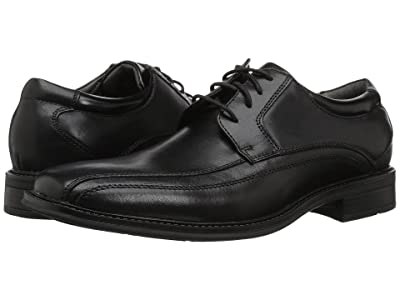 Dockers Endow Bike Toe Oxford (Black Polished Leather) Men