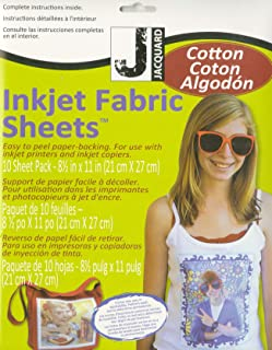Jacquard Printed Treasures Ink Jet Fabric Sheets 8.5inX11in 10/Pkg-100% Cotton Percale