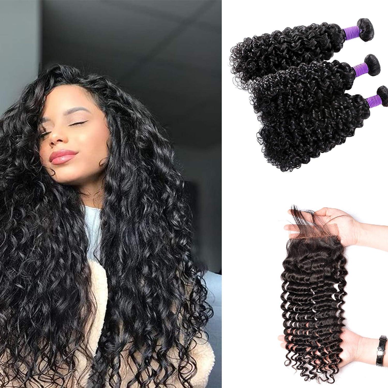 Curly Hair Brazilian Bundles Spasm price With 20 Closure 18 Closu 22+16 Popular products