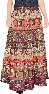 Sttoffa 38 Inch Length Elastic Band Rajasthani Skirt D2