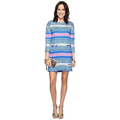 Lilly Pulitzer Lena Dress (Lapis Blue Tiki Stripe) Women