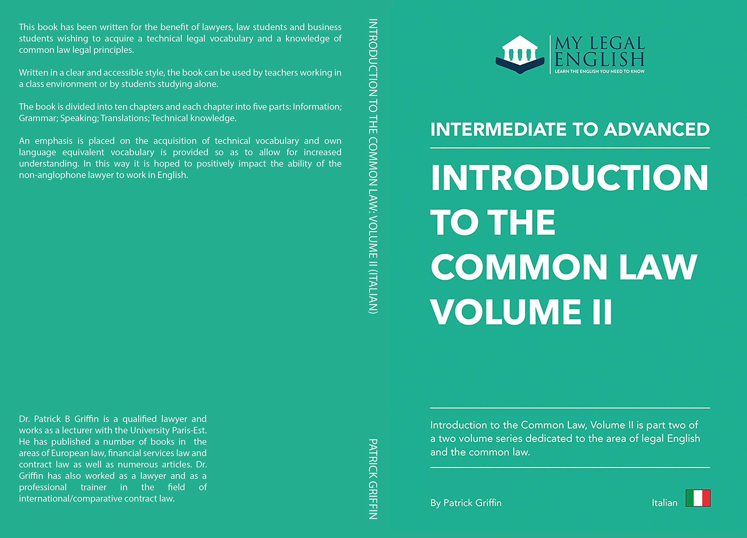 Introduction to the Common Law, Vol 2: English for the Common Law, Italian language edition