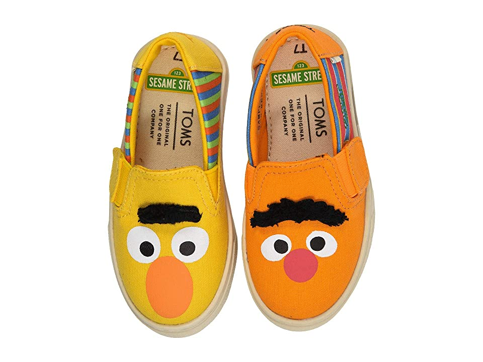 TOMS Kids Sesame Street Luca (Toddler/Little Kid) (Yellow/Orange Bert and Ernie Face Canvas) Kid