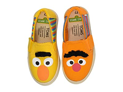 TOMS Kids Sesame Street Luca (Toddler/Little Kid) (Yellow/Orange Bert and Ernie Face Canvas) Kid