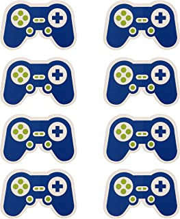 Video Game Party Supplies Stickers, Vinyl Decal Labels for Decorations Cups Plates Favors Bags Banner Balloons Multipurpose Gamer Gaming Pixel Controller Design for Boys Girls Teens Tweens