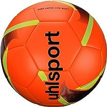 Uhlsport 290 Ultra Lite Soft Voetbal, Jeugd Unisex, rood/zwart/neongeel, 4
