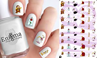 Beauty & the Beast Character (Clear Water-Slide Nail Decals)