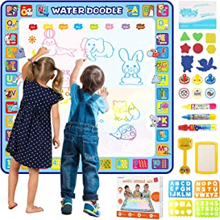 Tobeape® 100 X 100 cm Extra Large Aqua Magic Doodle Mat, Colorful Educational Water Drawing Doodling Mat Coloring Mat for ...