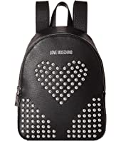 LOVE Moschino - Leather Backpack with Studs