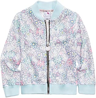 fd43b57b0 Hello Kitty Little Girl Printed Lace Bomber Jacket -Size 5 Ice Blue