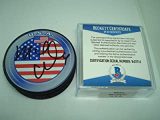 mike modano autographed puck