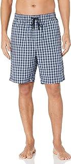 Nautica Men's Soft Woven 100% Cotton Elastic Waistband Sleep Pajama Shorts, J Navy, Large