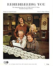 Remembering You Sheet Music The Closing Theme from All in the Family TV Show