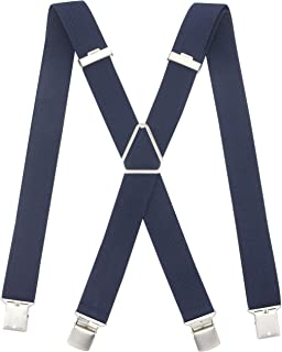 Men's Suspender X-shape Wide Adjustable Strong Clips Braces Heavy Duty For Casual&Formal