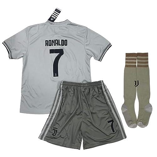 98878444bb0 VVBSoccerStore New  7 Ronaldo 2018 2019 Juventus Away Jersey Shorts   Socks  for Kids