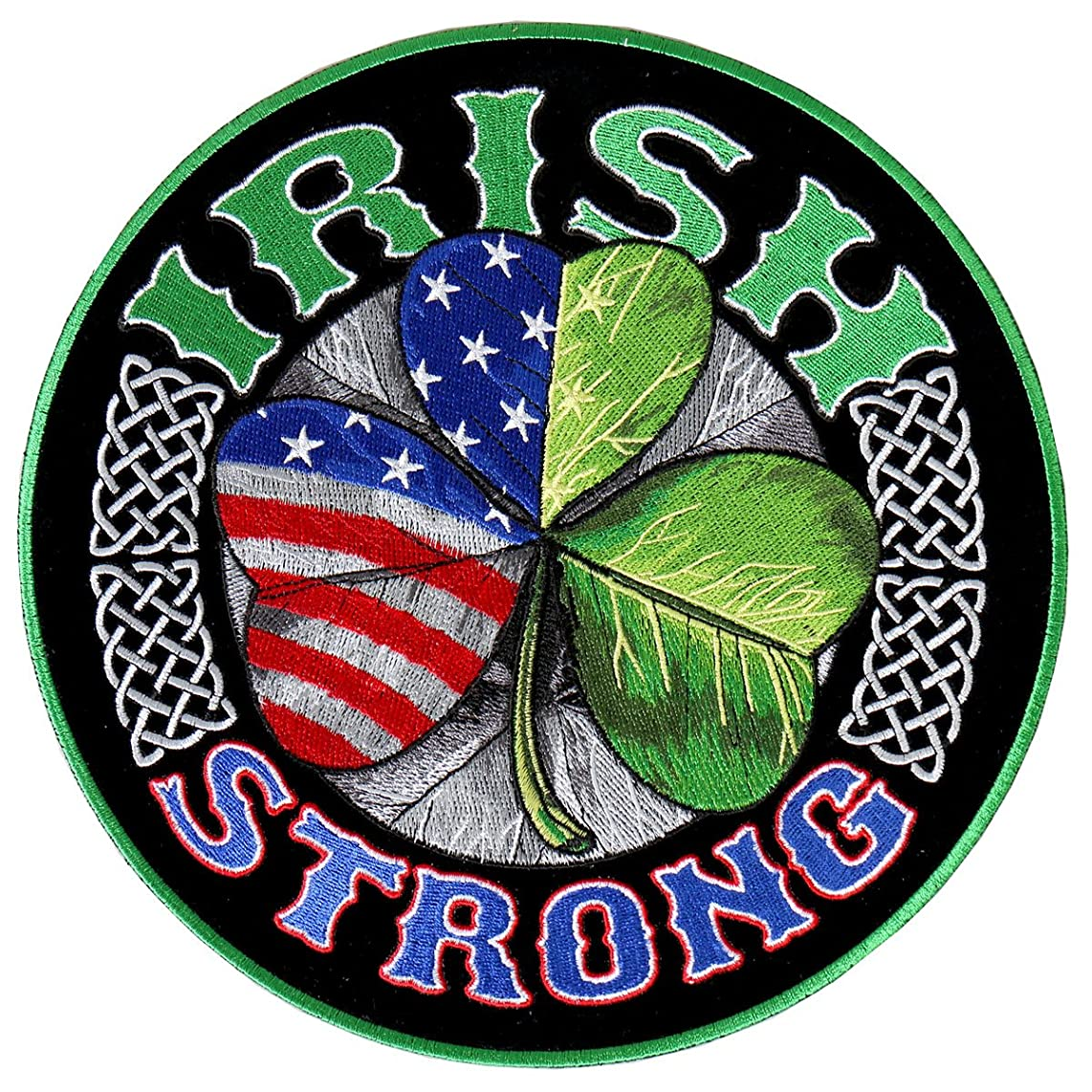 Hot Leathers, IRISH STRONG, High Thread Embroidered Iron-On / Saw-On Rayon PATCH - 4