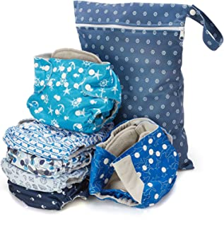 Simple Being Reusable Cloth Diapers Double Gusset One Size Adjustable Washable Soft Absorbent Waterproof Cover Eco-Friendl...