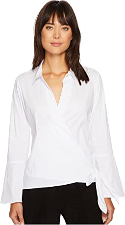 B Collection by Bobeau - Lottie Side Tie Blouse