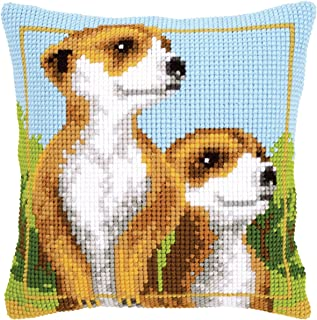 Vervaco Meerkats Cushion Cross Stitch Kit