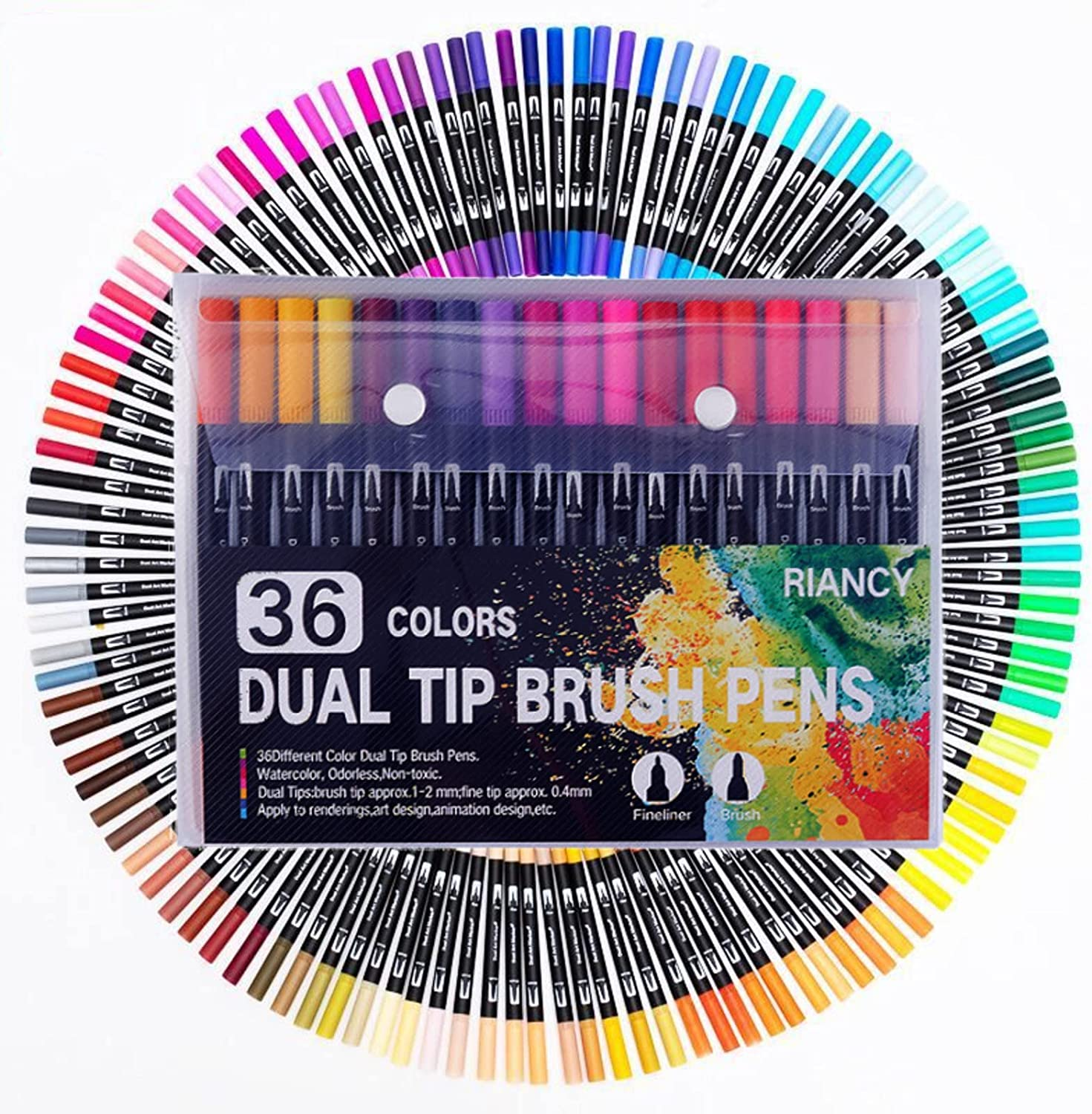 Dual Tip Las Vegas Mall Colored Pens Brush and Double Long Beach Mall Head En Markers Fine