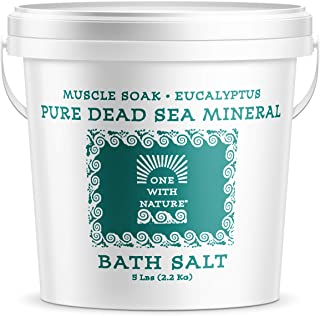 100% Pure Dead Sea Mineral Bath Salt 5Lb (Eucalyptus)