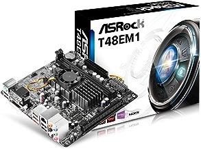 ASRock T48EM1 - Placa base Mini-ITX con CPU integrada (Procesador G-Series APU T48E, 2x DDR3, Máx. 16GB, D-Sub+HDMI+DVI-D, 4x SATA3, 1x eSATA3, 1x PCIe 2.0 x16, 10x USB 2.0)