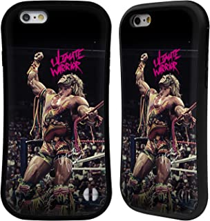 Official WWE Rope Pose Ultimate Warrior Hybrid Case Compatible for iPhone 6 / iPhone 6s