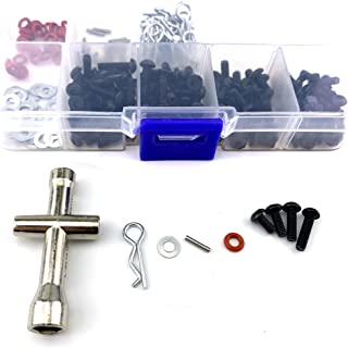 Readytosky RC Car Screws Box Repair Tool Kit 1/10 Scale Bend Body Clips Pins Accessories Set for 1/10 HSP RC Car DIY Kits(270PCS)