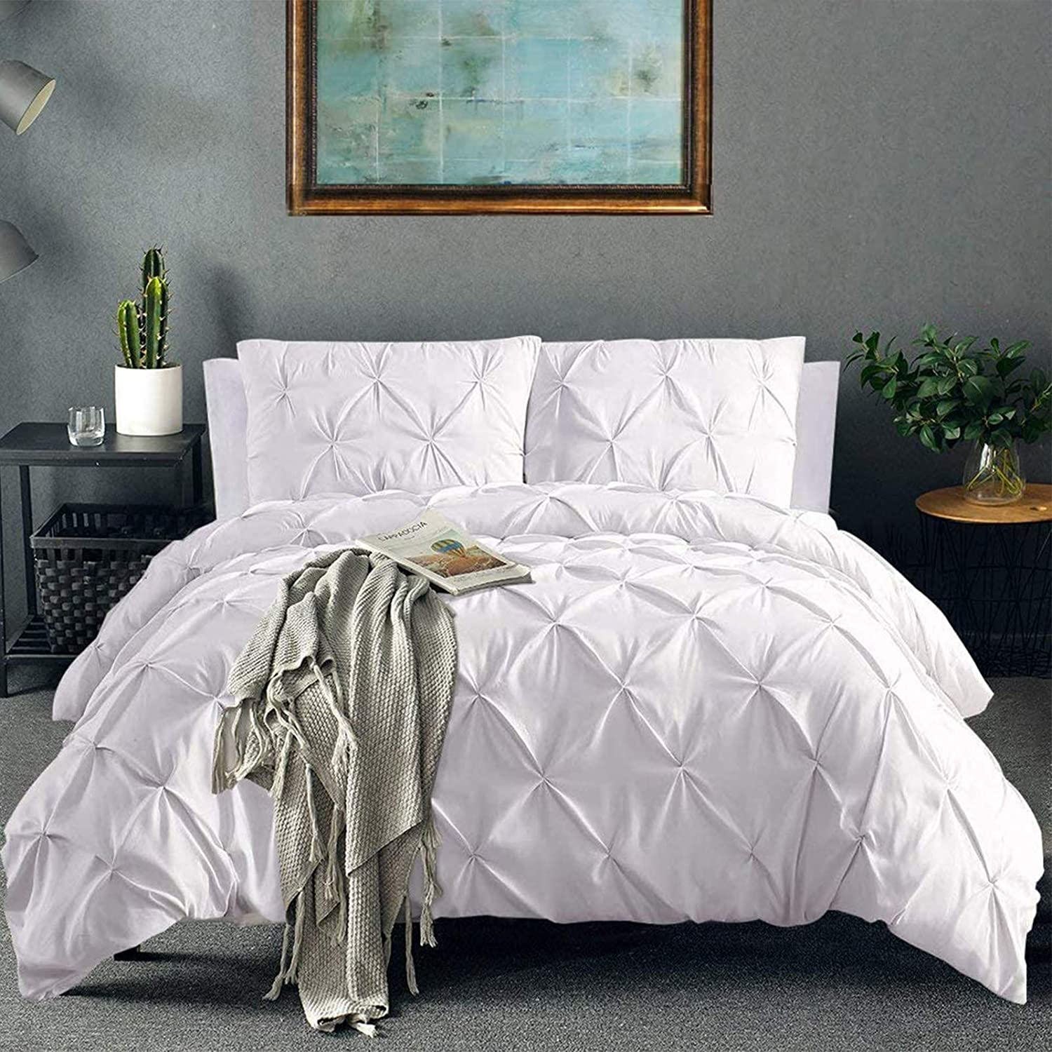 Vailge Mail order cheap 3 Cheap sale Piece Pinch Pleated Duvet Closure Zipper with Cover 10