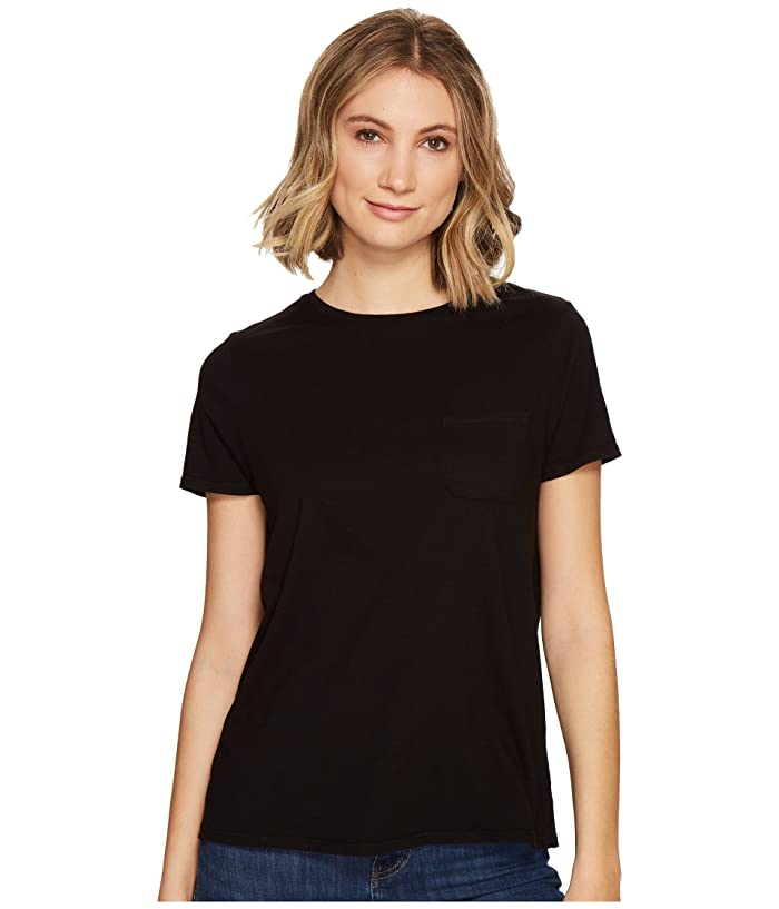 Richer Poorer Crew Pocket Tee (Black) Women's T Shirt