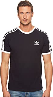 [adidas(アディダス)] メンズタンクトップ・Tシャツ 3-Stripes Tee Black XS [並行輸入品]