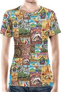 Rainbow Rules Frontierland Disney Inspired Women Cotton Blend T-Shirt
