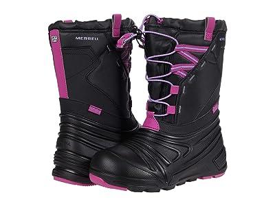 Merrell Kids Snow Quest Lite 2.0 Waterproof (Little Kid/Big Kid) (Black/Berry) Girls Shoes