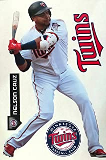 FATHEAD Nelson Cruz Graphic Minnesota Twins Logo Set Official MLB Vinyl Wall Graphics 17
