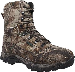 حذاء رجالي Ad Tec 25.4 سم من Real Tree Camo Synthetic Camo مقاوم للماء - نعل خارجي مطاطي قوي مع عرقوب فولاذية