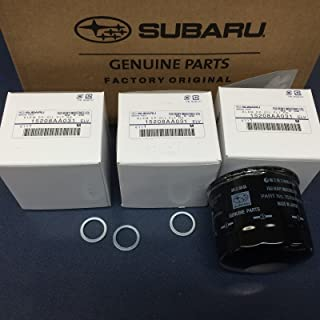 Genuine Subaru Engine Oil Filter & Crush Gasket (3 Pack) All 6 Cyl 15208AA031 Legacy Outback Tribeca