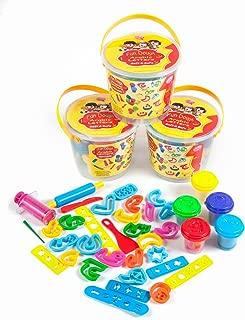 Desi Doll Fun Dough Arabic Alphabet Bucket Cutters Set