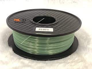 Glow in the dark (Luminous) 1.75 mm filament by WOL 3D (Green)