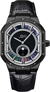 JBW Mens Quartz Watch, Analog Display and Leather Strap J6375C