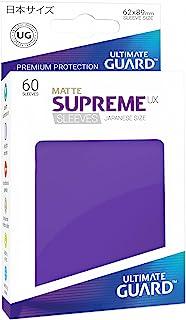 Ultimate Guard Supreme Japanese UX Card Sleeves (60 Piece), Matte Purple