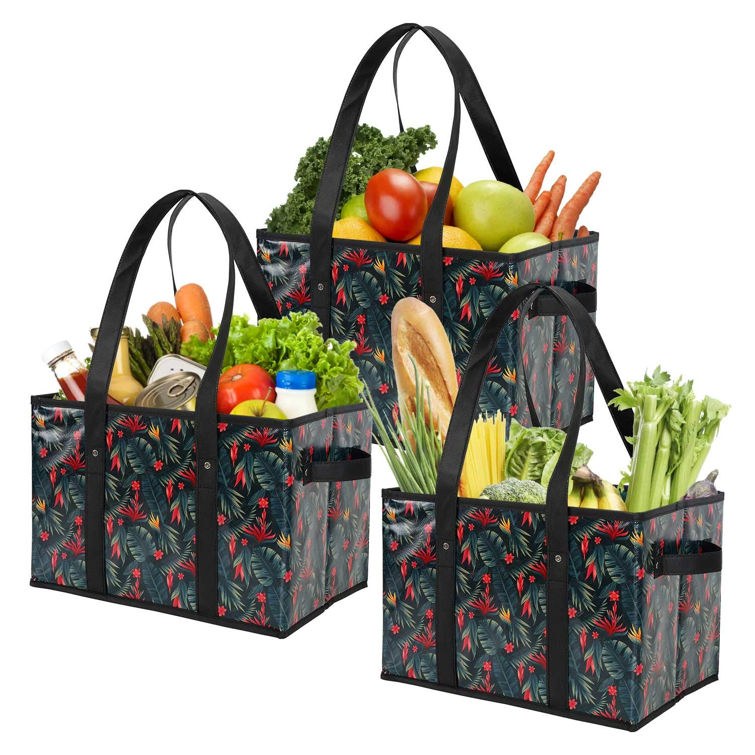 Foraineam Reusable Shopping Collapsible Reinforced