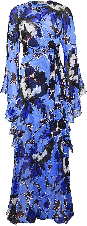 Diane Von Furstenberg Women's Silk Lizella Maxi Dress bluee