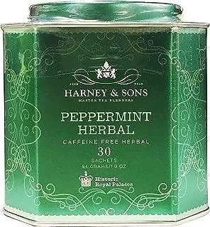 Harney & Sons Master Tea Blender Peppermint Herbal Fine Tea Classic Tin - Caffeine-Free Herbal, 30 Sachets, 1.9 Ounce