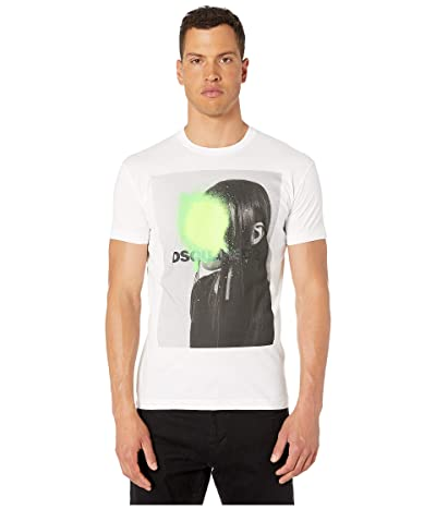 DSQUARED2 Dyed Photo Print Cool Fit T-Shirt (White) Men