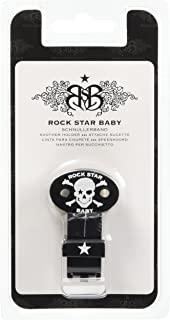 ROCK STAR BABY おしゃぶり ホルダー ドクロ ブラック/ホワイト